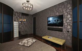 Дизайн комнаты с темными обоями
