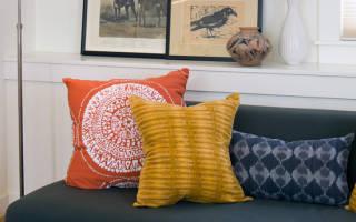Подушки в интерьере гостиной