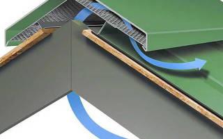 Установка конька на профнастил, видео: как закрепить конек на шиферной крыше?