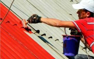 Можно ли покрасить шиферную крышу?