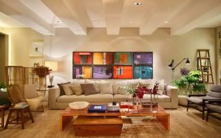 Сочетание бежевого цвета в интерьере гостиной