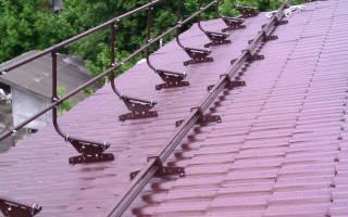 Как поставить снегозадержатели на крышу
