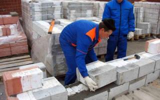 Строительство стен из газосиликатных блоков