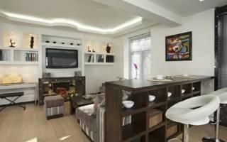 Дизайн комнаты с барной стойкой