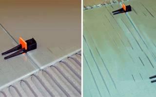 Приспособление для укладки плитки на стену