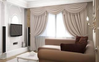 Красивые шторы в интерьере гостиной