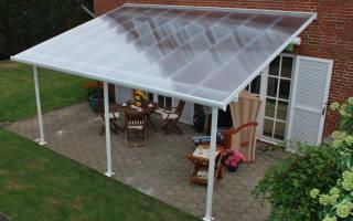 Крыша из поликарбоната для дома: карбонат для навеса