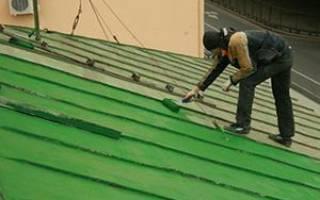 Краска для крыши из металла – покраска железа