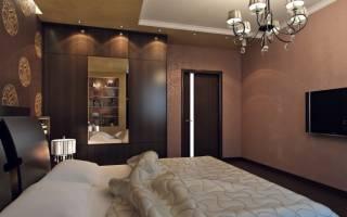 Дизайн прямоугольной спальни 15