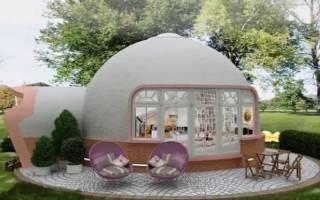 Купольный дом из пенополистирола из Китая, утепление купольного дома